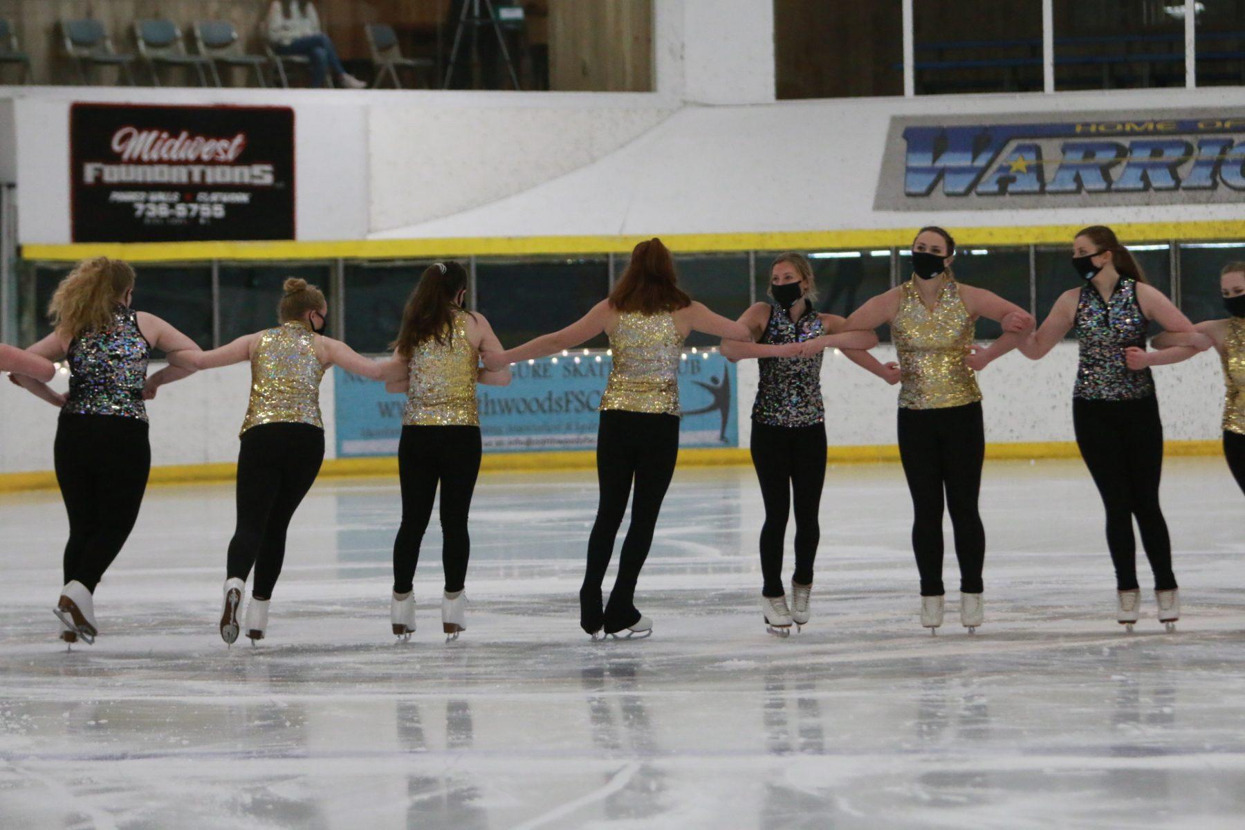skating in line